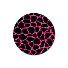 SKN1 BK-PK MARBLE (R) Rubber Coaster (Round)