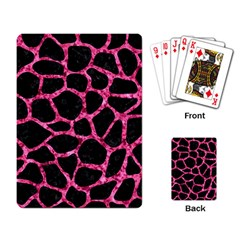 SKN1 BK-PK MARBLE (R) Playing Card