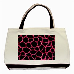SKN1 BK-PK MARBLE (R) Basic Tote Bag (Two Sides)