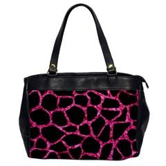 SKN1 BK-PK MARBLE (R) Office Handbags