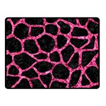 SKIN1 BLACK MARBLE & PINK MARBLE (R) Fleece Blanket (Small) 50 x40 Blanket Front