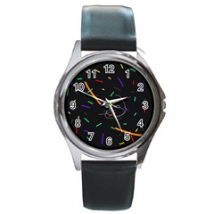 Colorful beauty Round Metal Watch