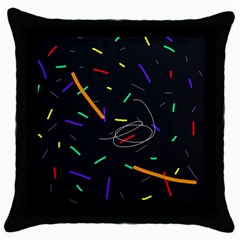 Colorful beauty Throw Pillow Case (Black)