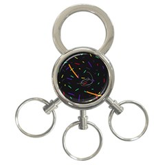 Colorful beauty 3-Ring Key Chains