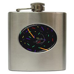 Colorful beauty Hip Flask (6 oz)