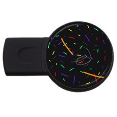 Colorful beauty USB Flash Drive Round (4 GB)