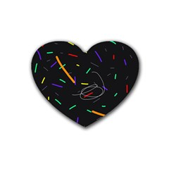 Colorful beauty Rubber Coaster (Heart)