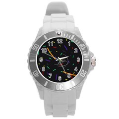 Colorful beauty Round Plastic Sport Watch (L)