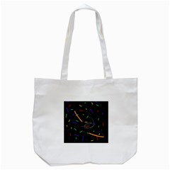 Colorful beauty Tote Bag (White)