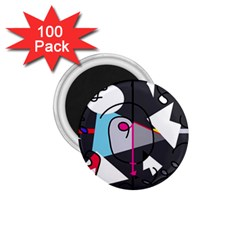 Abstract bird 1.75  Magnets (100 pack)