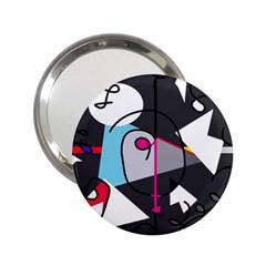 Abstract bird 2.25  Handbag Mirrors