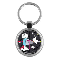 Abstract bird Key Chains (Round)