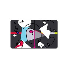 Abstract bird Magnet (Name Card)