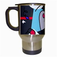 Abstract bird Travel Mugs (White)