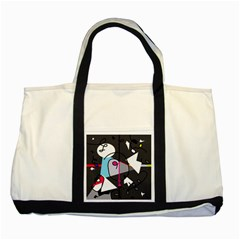 Abstract bird Two Tone Tote Bag