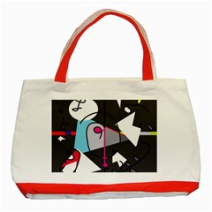 Abstract bird Classic Tote Bag (Red)