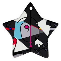 Abstract bird Star Ornament (Two Sides)