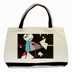 Abstract bird Basic Tote Bag (Two Sides)
