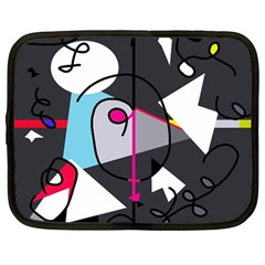 Abstract bird Netbook Case (Large)