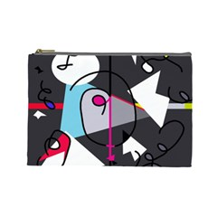 Abstract bird Cosmetic Bag (Large)