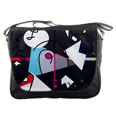 Abstract bird Messenger Bags