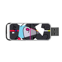 Abstract bird Portable USB Flash (One Side)
