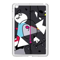 Abstract bird Apple iPad Mini Case (White)