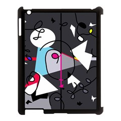 Abstract bird Apple iPad 3/4 Case (Black)