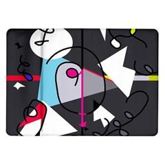 Abstract bird Samsung Galaxy Tab 10.1  P7500 Flip Case