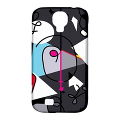 Abstract bird Samsung Galaxy S4 Classic Hardshell Case (PC+Silicone)