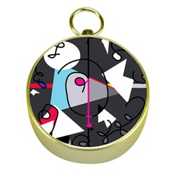 Abstract bird Gold Compasses