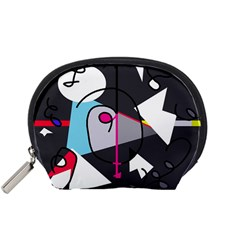 Abstract bird Accessory Pouches (Small)