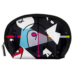 Abstract bird Accessory Pouches (Large)