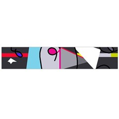 Abstract bird Flano Scarf (Large)