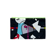 Abstract bird Cosmetic Bag (XS)