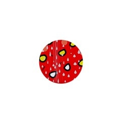 Rainy day - red 1  Mini Buttons