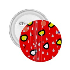 Rainy day - red 2.25  Buttons
