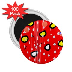 Rainy day - red 2.25  Magnets (100 pack)