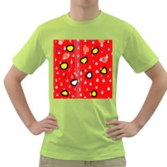 Rainy day - red Green T-Shirt