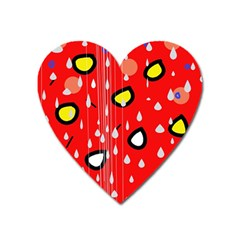 Rainy day - red Heart Magnet