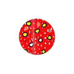 Rainy day - red Golf Ball Marker (10 pack)