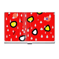 Rainy day - red Business Card Holders