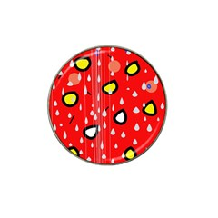 Rainy day - red Hat Clip Ball Marker