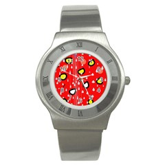 Rainy day - red Stainless Steel Watch