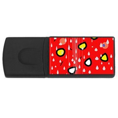 Rainy day - red USB Flash Drive Rectangular (4 GB)