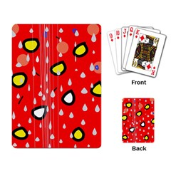 Rainy day - red Playing Card