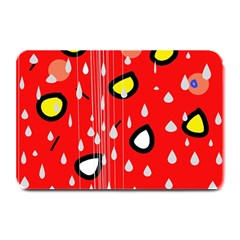 Rainy day - red Plate Mats