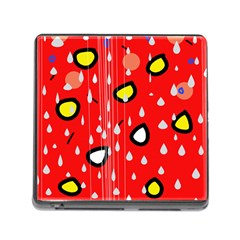 Rainy day - red Memory Card Reader (Square)