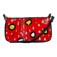 Rainy day - red Shoulder Clutch Bags