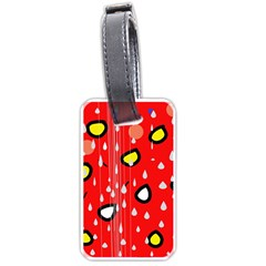 Rainy day - red Luggage Tags (One Side)